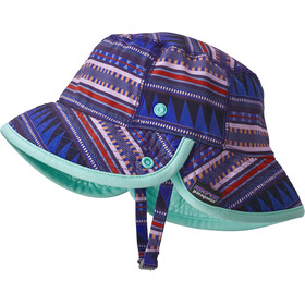 Patagonia Kids Little Sol Hat Belay Stripe: Imperial Blue